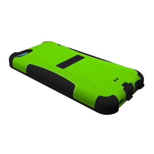 Trident Lime Green/ Black Aegis Series Hard Cover on Silicone Skin Case w/ Screen Protector for Apple iPhone 5C - AG-APL-IPH5C-TG