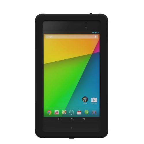 Trident Black Aegis Series Hard Cover on Silicone Skin Case w/ Screen Protector for Google Nexus 7 2nd Generation - AG-GL-NXS7II-BK