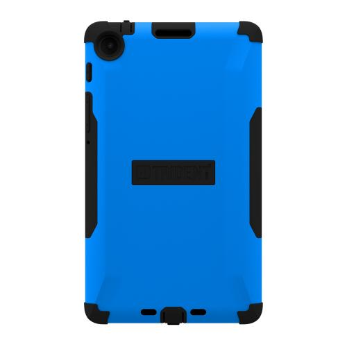 Trident Blue/ Black Aegis Series Hard Cover on Silicone Skin Case w/ Screen Protector for Google Nexus 7 2nd Generation - AG-GL-NXS7II-BLU
