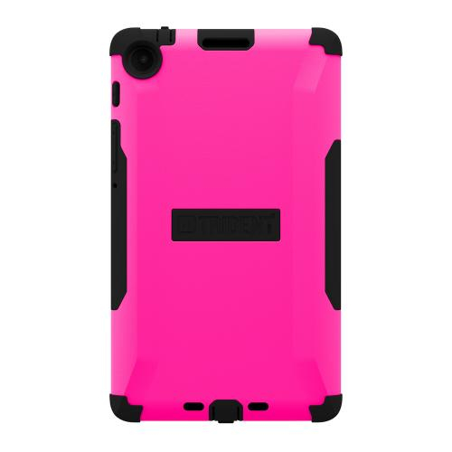 Trident Hot Pink/ Black Aegis Series Hard Cover on Silicone Skin Case w/ Screen Protector for Google Nexus 7 2nd Generation - AG-GL-NXS7II-PNK