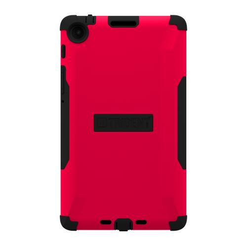 Trident Red/ Black Aegis Series Hard Cover on Silicone Skin Case w/ Screen Protector for Google Nexus 7 2nd Generation - AG-GL-NXS7II-RED