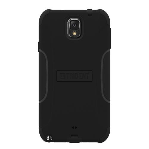 Trident Black Aegis Series Hard Cover on Silicone Skin Case w/ Screen Protector for Samsung Galaxy Note 3 - AG-SAM-GNOTE3-BK