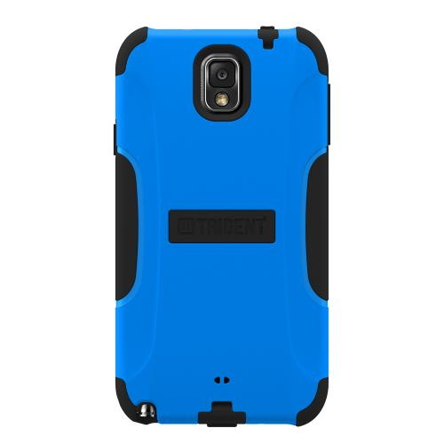 Trident Blue/ Black Aegis Series Hard Cover on Silicone Skin Case w/ Screen Protector for Samsung Galaxy Note 3 - AG-SAM-GNOTE3-BLU