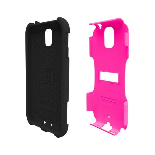 Trident Hot Pink/ Black Aegis Series Hard Cover on Silicone Skin Case w/ Screen Protector for Samsung Galaxy Note 3 - AG-SAM-GNOTE3-PNK