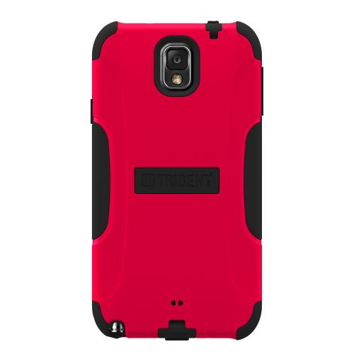 Trident Red/ Black Aegis Series Hard Cover on Silicone Skin Case w/ Screen Protector for Samsung Galaxy Note 3 - AG-SAM-GNOTE3-RED