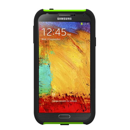 Trident Lime Green/ Black Aegis Series Hard Cover on Silicone Skin Case w/ Screen Protector for Samsung Galaxy Note 3 - AG-SAM-GNOTE3-TG