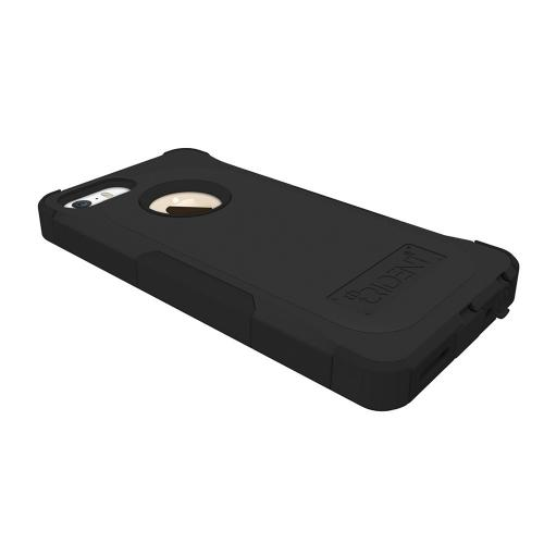 OEM Trident Aegis Apple iPhone 5/5S Hard Cover Over Silicone Case w/ Screen Protector - Black