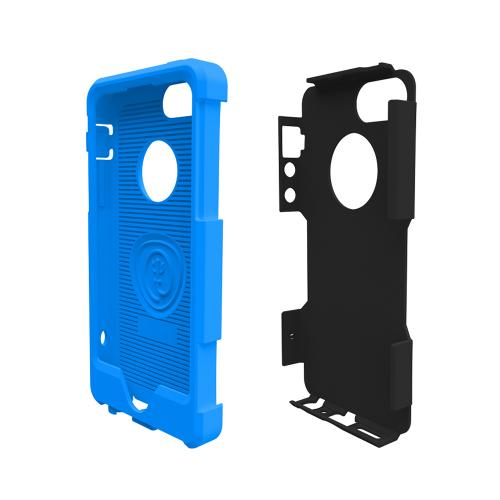 OEM Trident Aegis Apple iPhone 5/5S Hard Cover Over Silicone Case w/ Screen Protector - Blue/ Black