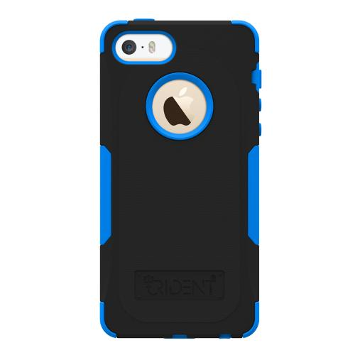 Apple iPhone SE / 5 / 5S  Case, Trident [Blue/ Black] AEGIS Series Hard Cover Over Silicone Case w/ Screen Protector