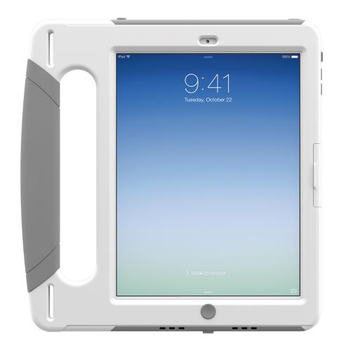 Trident Gray/white Apple Ipad Air Kraken Ams Industrial Edition Hard Case On Silicone W/ Handle & Built-in Screen Protector - Perfect For Hospitals!