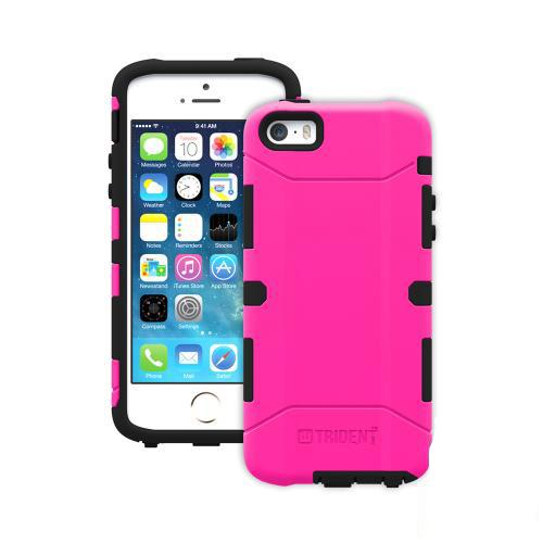 Trident Aegis iPhone 5 / 5S Case | [Hot Pink] Aegis Series Slim & Rugged Hard Cover over Silicone Skin Dual Layer Hybrid Case w/ Screen Protector for Apple iPhone 5 / 5S | Great Alternative to Otterbox!