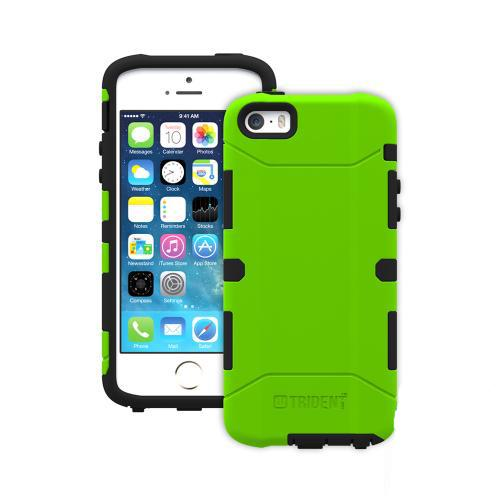 Trident Aegis iPhone 5 / 5S Case | [Lime Green] Aegis Series Slim & Rugged Hard Cover over Silicone Skin Dual Layer Hybrid Case w/ Screen Protector for Apple iPhone 5 / 5S | Great Alternative to Otterbox!
