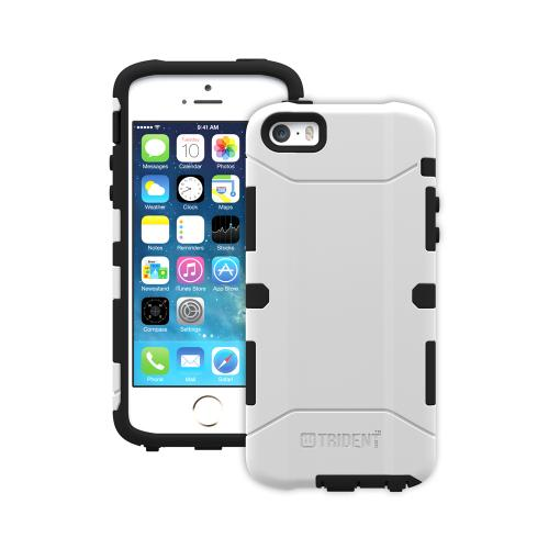 iPhone 5/5s Dual Layer Case by Trident [White] Aegis Series Featuring Hardened Polycarbonate Over Silicone Skin Hybrid Case W/ Screen Protector