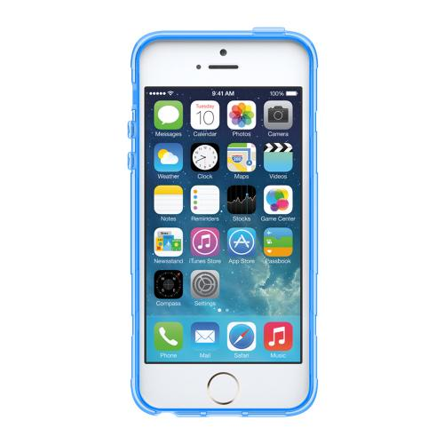Apple iPhone SE / 5 / 5S  Case, Trident [Blue] PERSEUS Series Ultra Slim & Flexible Crystal Silicone TPU Skin Cover Case w/ Screen Protector