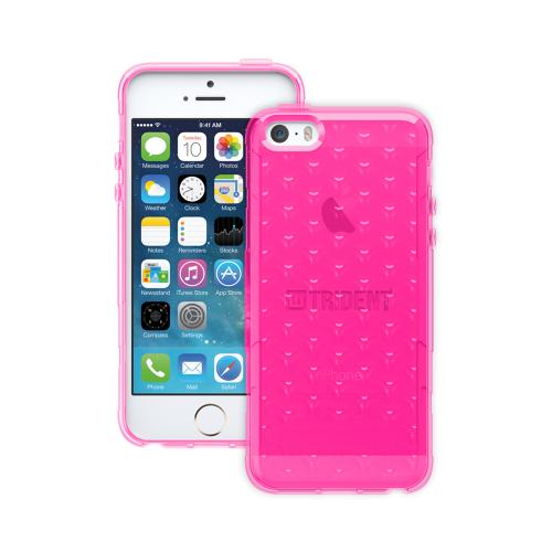 Trident Hot Pink Perseus Series TPU Crystal Silicone Skin Case w/ Screen Protector for Apple iPhone 5/5S - PS-APL-IPH5S2K