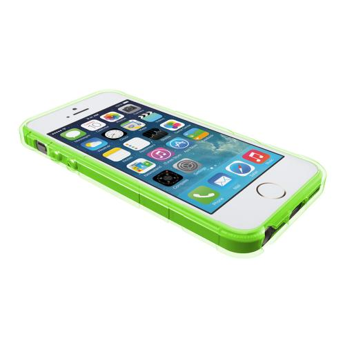 Apple iPhone SE / 5 / 5S  Case, Trident [Lime Green] PERSEUS Series Ultra Slim & Flexible Crystal Silicone TPU Skin Cover Case w/ Screen Protector