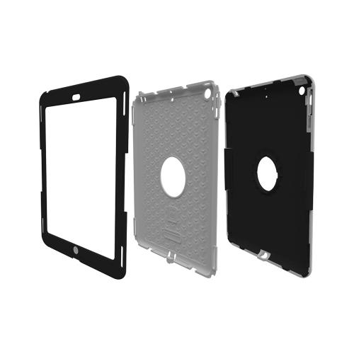 Trident Black/ Gray Apple Ipad Air Kraken Ams Industrial Edition Hard Case On Silicone W/ Built-in Screen Protector - Perfect For Hospitals!