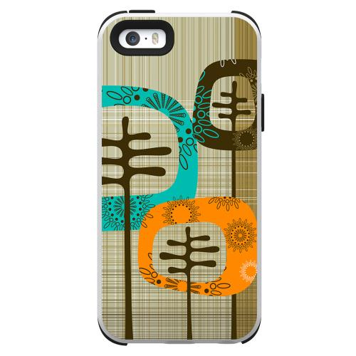 Apple iPhone SE / 5 / 5S  Case, Trident [Retro Trees] AEGIS Series Slim & Rugged Hard Case Over Silicone Skin Dual Layer Hybrid Case w/ Screen Protector