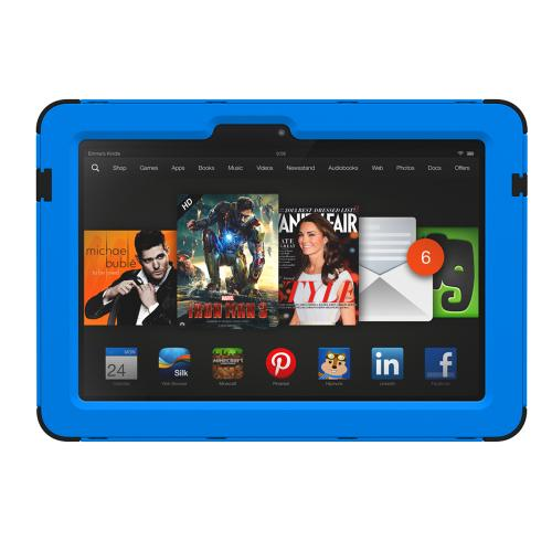 Kindle Fire HDX 8.9 Dual Layer Case by Trident | [Blue] Kraken AMS Hard Polycarbonate on Silicone Hybrid Case W/ Built-in Screen Protector