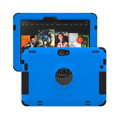 Trident Kraken AMS Kindle Fire HDX 8.9 Case | [Blue] Kraken AMS Series Rugged Protective Hard Polycarbonate on Silicone Dual Layer Hybrid Case w/ Built-in Screen Protector for Amazon Kindle Fire HDX 8.9 | Great Alternative to Otterbox!