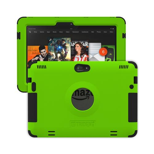 Kindle Fire HDX 8.9 Dual Layer Case by Trident | [Lime Green] Kraken AMS Hard Polycarbonate on Silicone Hybrid Case W/ Built-in Screen Protector