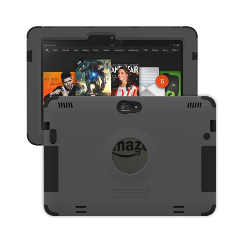 Trident Aegis Kindle Fire HDX 8.9 Case | [Gray] Aegis Series Slim & Rugged Hard Cover over Silicone Skin Dual Layer Hybrid Case w/ Screen Protector for Amazon Kindle Fire HDX 8.9 | Great Alternative to Otterbox!