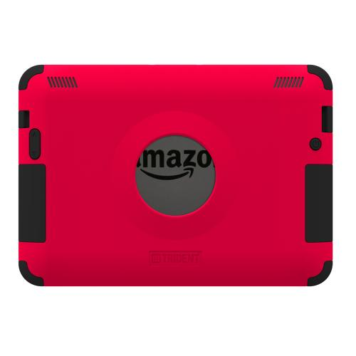 Kindle Fire HDX 7 Dual Layer Case by Trident | [Red] Kraken AMS Hard Polycarbonate On Silicone Hybrid Case W/ Built-in Screen Protector