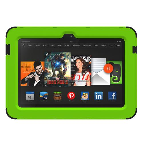 Trident Kraken AMS Kindle Fire HDX 7 Case | [Lime Green] Kraken AMS Series Rugged Protective Hard Polycarbonate on Silicone Dual Layer Hybrid Case w/ Built-in Screen Protector for Amazon Kindle Fire HDX 7 | Great Alternative to Otterbox!