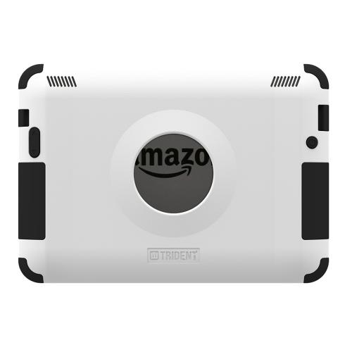 Kindle Fire HDX 7 Dual Layer Case by Trident | [White] Kraken AMS Hard Polycarbonate On Silicone Hybrid Case W/ Built-in Screen Protector