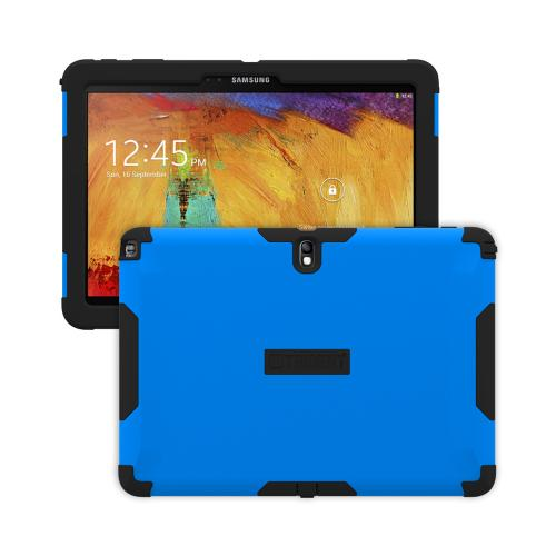 Trident Blue/ Black Aegis Series Hard Cover on Silicone Case w/ Screen Protector for Samsung Galaxy Note 10.1 2014 Edition - AG-SAM-GNOTE10-BLU