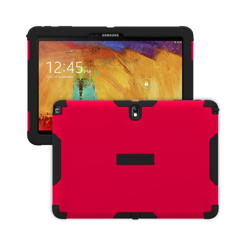 Trident Red/ Black Aegis Series Hard Cover on Silicone Case w/ Screen Protector for Samsung Galaxy Note 10.1 2014 Edition - AG-SAM-GNOTE10-RED
