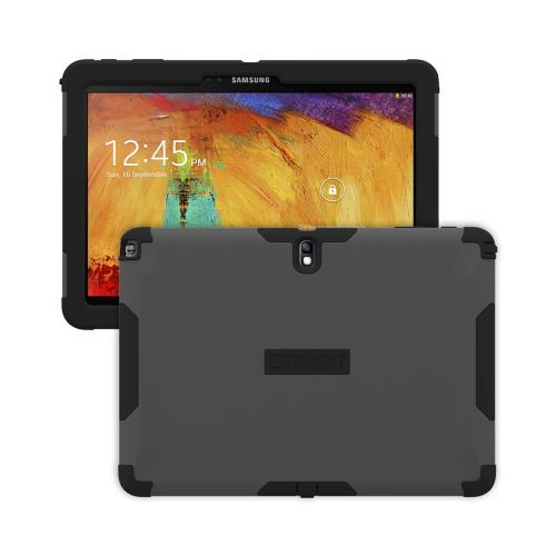 Trident Gray/ Black Aegis Series Hard Cover on Silicone Case w/ Screen Protector for Samsung Galaxy Note 10.1 2014 Edition - AG-SAM-GNOTE10-GY