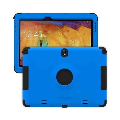 Trident Blue/ Black Kraken Ams Series Hard Case On Silicone W/ Built-in Screen Protector For Samsung Galaxy Note 10.1 2014 Edition