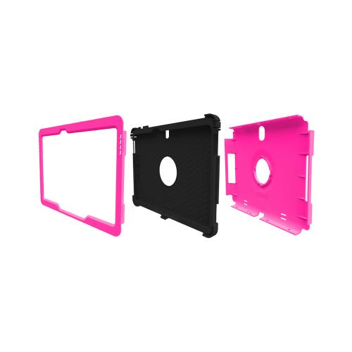 Trident Hot Pink/ Black Kraken Ams Series Hard Case On Silicone W/ Built-in Screen Protector For Samsung Galaxy Note 10.1 2014 Edition