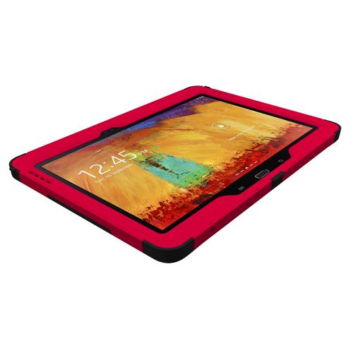 Trident Red/ Black Kraken Ams Series Hard Case On Silicone W/ Built-in Screen Protector For Samsung Galaxy Note 10.1 2014 Edition
