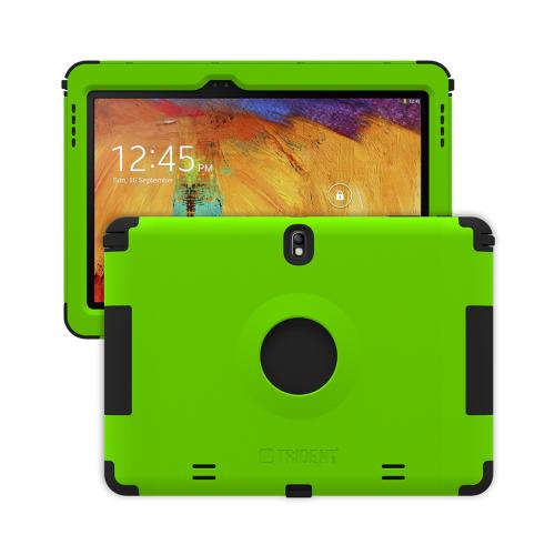 Trident Lime Green/ Black Kraken AMS Series Hard Case on Silicone w/ Built-In Screen Protector for Samsung Galaxy Note 10.1 2014 Edition - AMS-SAM-GNOTE10-TG