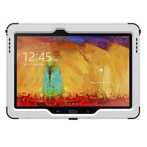 Trident White/ Black Kraken Ams Series Hard Case On Silicone W/ Built-in Screen Protector For Samsung Galaxy Note 10.1 2014 Edition