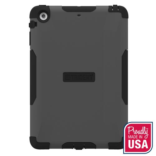 Trident Gray/ Black Aegis Series Hard Case Over Silicone w/ Screen Protector for Apple iPad Mini 2 - AG-APL-IPADMINI2US-GY