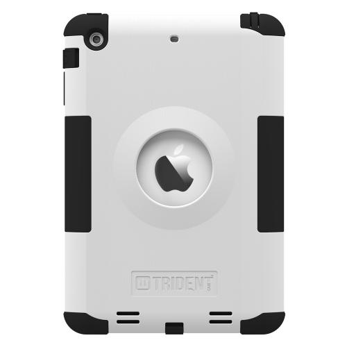 iPad Mini 2 Dual Layer Case by Trident | [White] Kraken AMS Series Featuring Hard Polycarbonate On Silicone Hybrid Case w/ Built-in Screen Protector