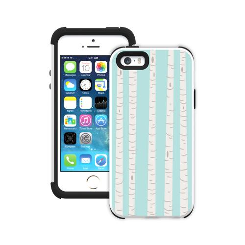 iPhone 5/5s Dual Layer Case by Trident [Birch On Aqua] Aegis Series Featuring Hardened Polycarbonate on Silicone Skin Hybrid Case W/ Screen Protector