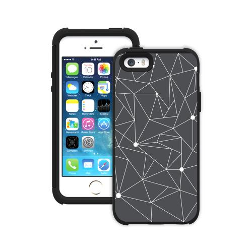 Apple iPhone SE / 5 / 5S  Case, Trident [White Constellations On Dark Gray] AEGIS Series Slim & Rugged Hard Case Over Silicone Skin Dual Layer Hybrid Case w/ Screen Protector