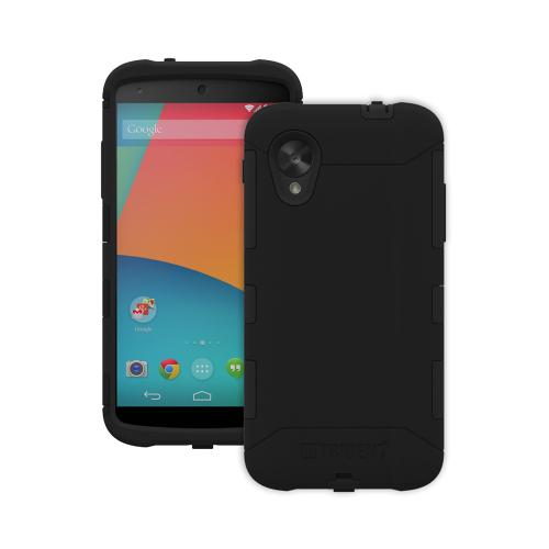 Trident Black Aegis Series Hard Cover on Silicone Case w/ Screen Protector for LG Google Nexus 5 - AG-GL-NXS5-BK