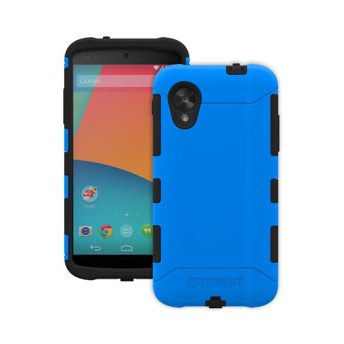 Trident Blue/ Black Aegis Series Hard Cover on Silicone Case w/ Screen Protector for LG Google Nexus 5 - AG-GL-NXS5-BLU