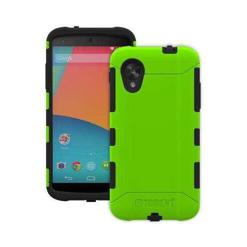Trident Aegis Nexus 5 Case | [Lime Green] Aegis Series Slim & Rugged Hard Cover over Silicone Skin Dual Layer Hybrid Case w/ Screen Protector for LG Nexus 5 | Great Alternative to Otterbox!