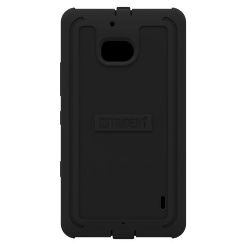 Trident All Black Cyclops Series Thermo Poly Elastomer (super Tough) Hard Case W/ Built-in Screen Protector For Nokia Icon