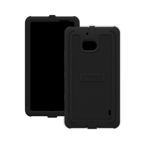 Trident Black Cyclops Series Thermo Poly Elastomer (Super TOUGH) Hard Case w/ Built-In Screen Protector for Nokia Lumia Icon - CY-NOK-LUMIA929-BK
