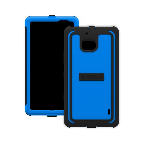 Trident Blue/Black Cyclops Series Thermo Poly Elastomer (super Tough) Hard Case W/ Built-in Screen Protector For Nokia Icon