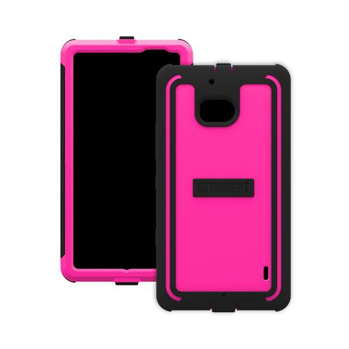 Trident Hot Pink/Black Cyclops Series Thermo Poly Elastomer (super Tough) Hard Case W/ Built-in Screen Protector For Nokia Icon