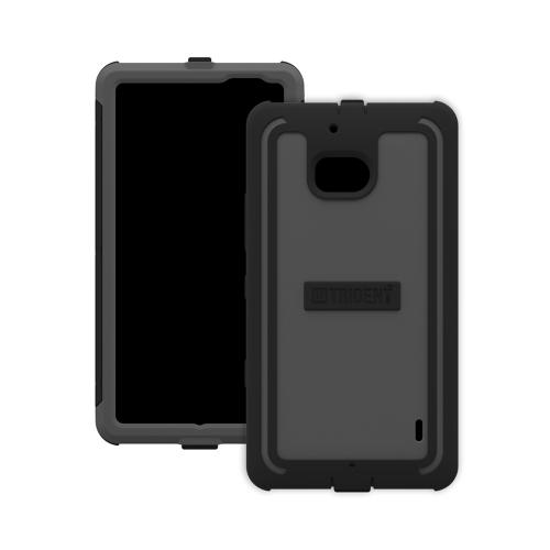 Trident Gray/ Black Cyclops Series Thermo Poly Elastomer (super Tough) Hard Case W/ Built-in Screen Protector For Nokia Icon