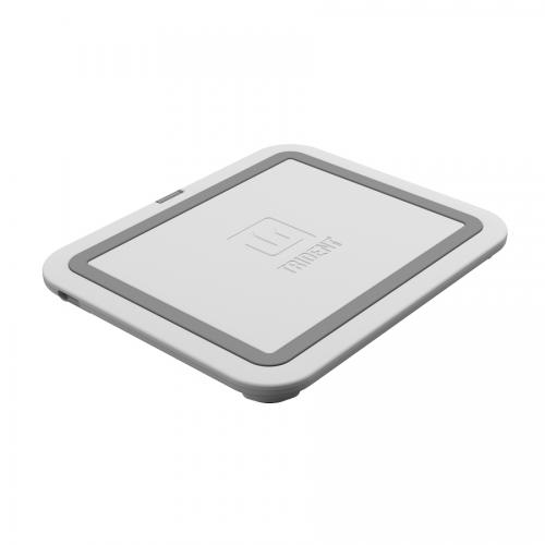 Trident White Electra Qi Series Wireless Charging Pad w/ Anti-Skid Feet for Qi Enabled Devices (Android & Windows) or Cases - EL-QI-SCP-WT